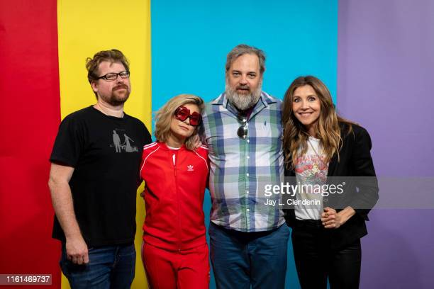 Justin Roiland, Spencer Grammer, Dan Harmon and Sarah Chalke of 'Rick and Morty' are photographed for Los Angeles Times at Comic-Con International on...