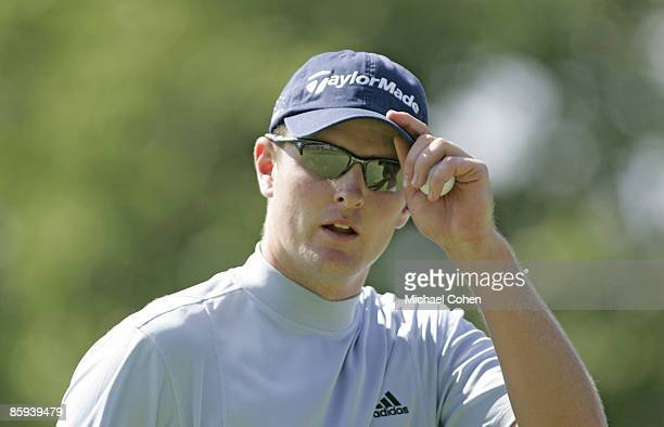 Justin Rose during the third round of the Buick Championship at the Tournament Players Club at River Highlands in Cromwell Connecticut on August 27...