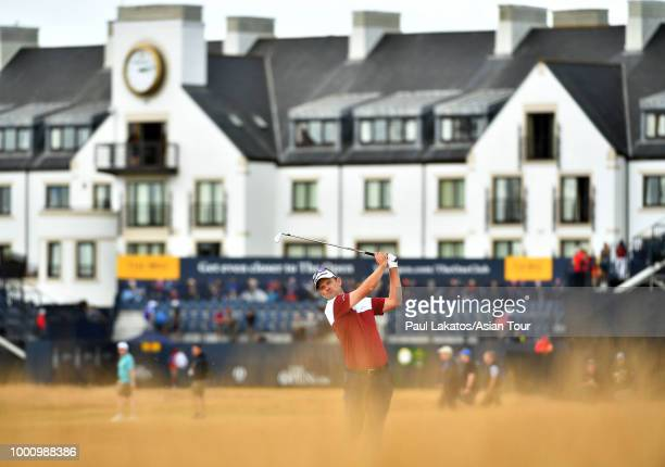 Justin Rose of England at Carnoustie Golf Club on July 17 2018 in Carnoustie Scotland