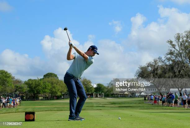 Justin Rose of England hits his drive on the 10th hole during The Open Qualifying Series part of the Arnold Palmer Invitational at Bay Hill Club and...