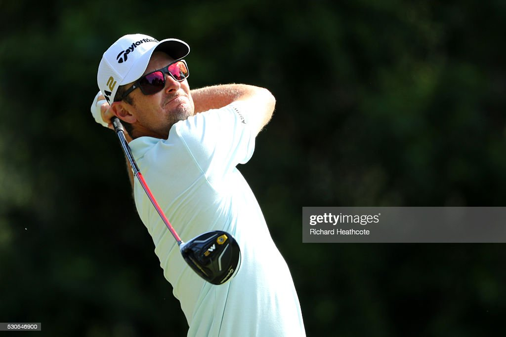 Justin Rose of England in action during a practise round for THE PLAYERS Championship on The Stadium Course at TPC Sawgrass on May 11, 2016 in Ponte Vedra Beach, Florida.