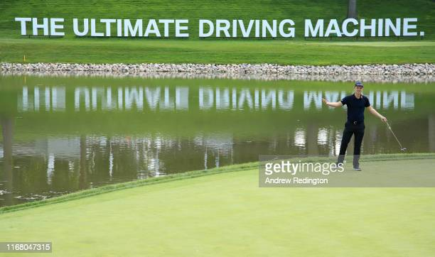 Justin Rose of England in action during practice for the BMW Championship at Medinah Country Club on August 13 2019 in Medinah Illinois
