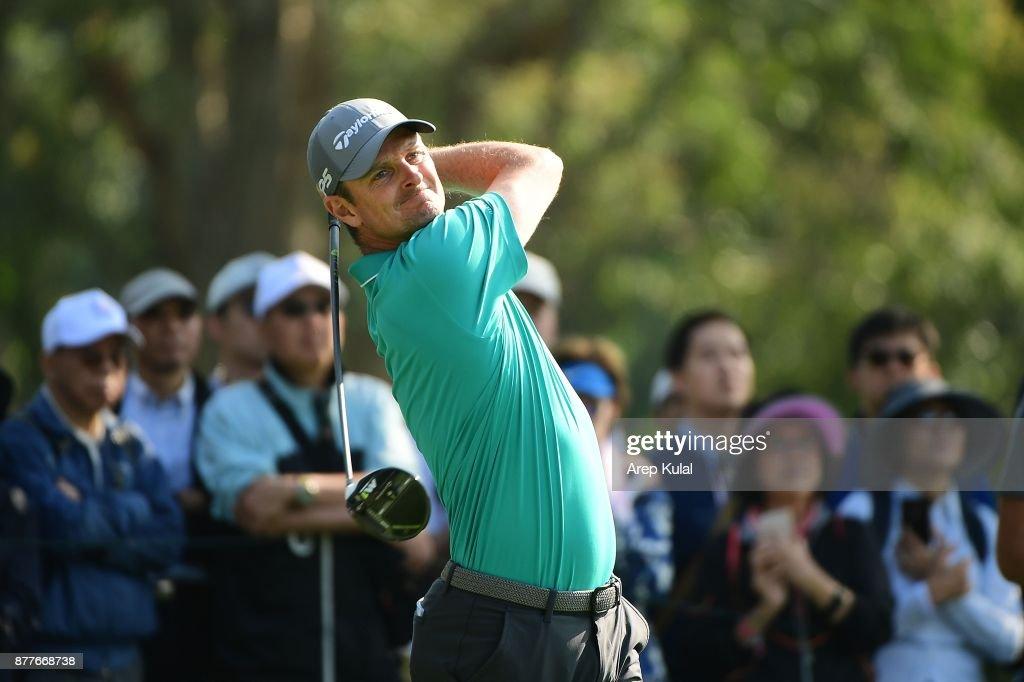 Justin Rose of England pictured during round one of the UBS Hong Kong Open at The Hong Kong Golf Club on November 23, 2017 in Hong Kong, Hong Kong.