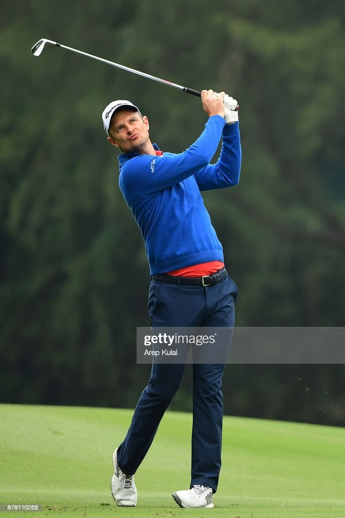 Justin Rose of England pictured during round two of the UBS Hong Kong Open at The Hong Kong Golf Club on November 24, 2017 in Hong Kong, Hong Kong.Ê