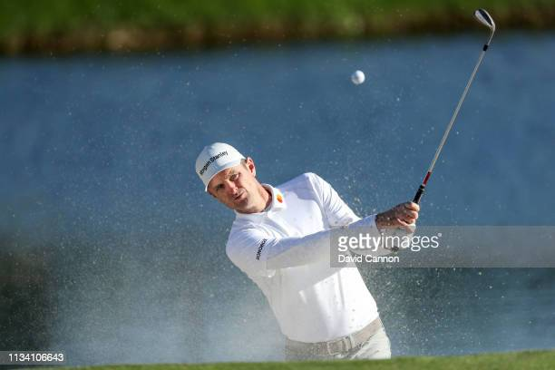 Justin Rose of England plays a shot during the proam as a preview for the 2019 Arnold Palmer Invitational presented by Mastercard at the Bay Hill...