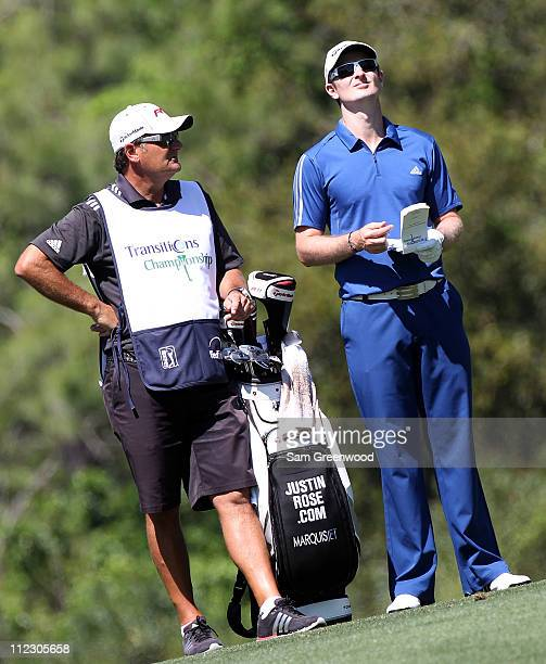 Justin Rose of England plays a shot during the third round of the Transitions Championship at Innisbrook Resort and Golf Club on March 19 2011 in...