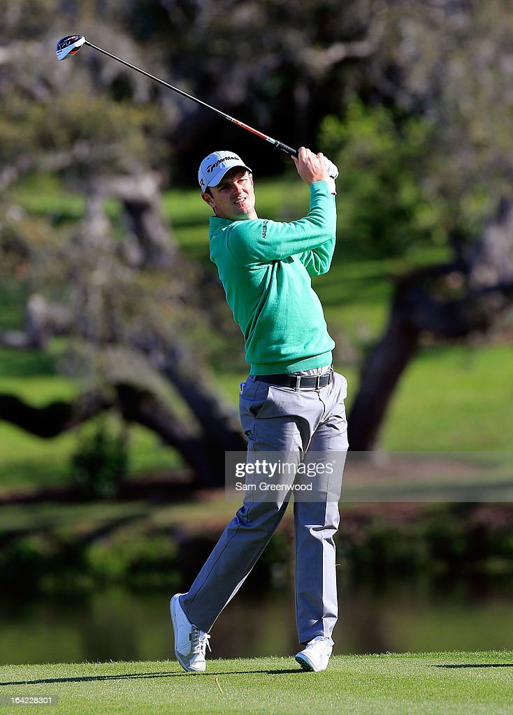 Justin Rose of England plays a shot on the 16th hole during the first round of the Arnold Palmer Invitational presented by MasterCard at the Bay Hill Club and Lodge on March 21, 2013 in Orlando, Florida.
