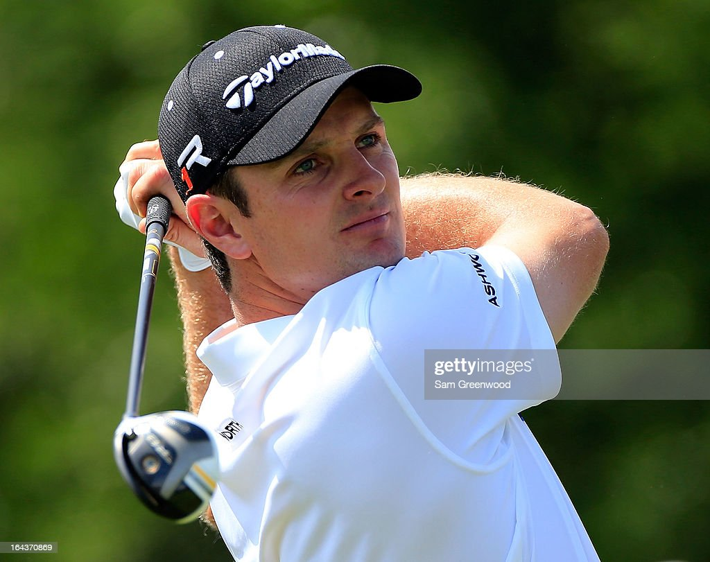 Justin Rose of England plays a shot on the 1st hole during the second round of the Arnold Palmer Invitational presented by MasterCard at the Bay Hill Club and Lodge on March 22, 2013 in Orlando, Florida.