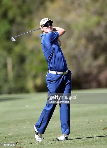Justin Rose of England plays a shot on the 7th hole during the third round of the Transitions Championship at Innisbrook Resort and Golf Club on...