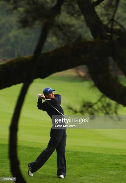 Justin Rose of England plays his second shot on the 10th hole during round two of the Dunlop Phoenix Golf Tournament being played at the Phoenix Golf...