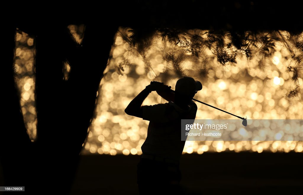 Justin Rose of England plays his second shot on the 18th hole during round one of THE PLAYERS Championship at THE PLAYERS Stadium course at TPC Sawgrass on May 9, 2013 in Ponte Vedra Beach, Florida.