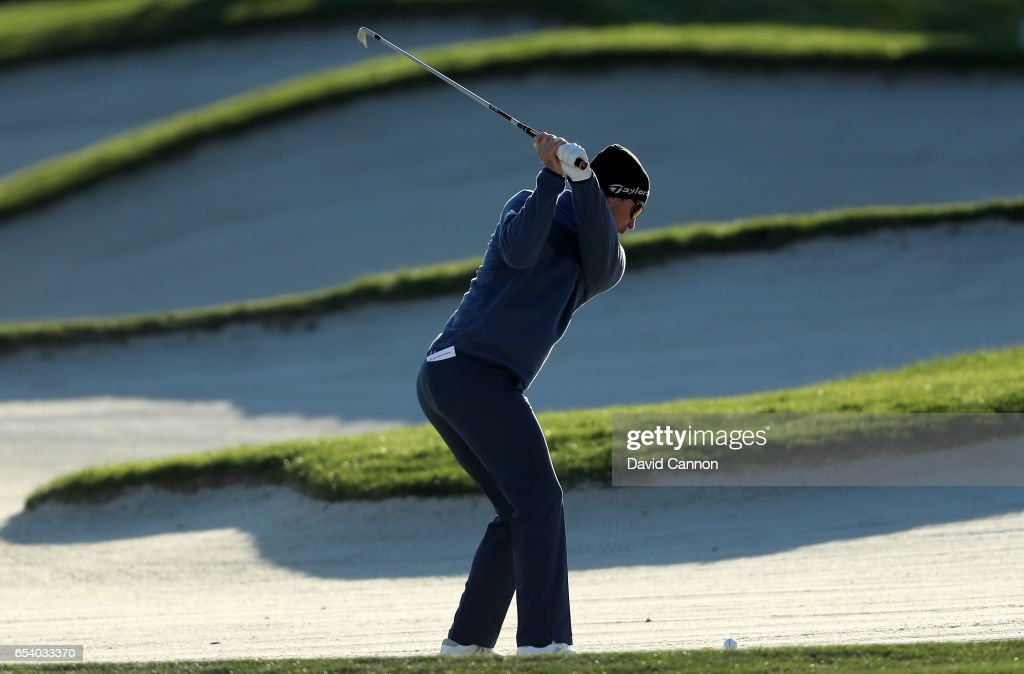 Justin Rose of England plays his second shot on the par 4, 11th hole during the first round of the 2017 Arnold Palmer Invitational presented by MasterCard on March 16, 2017 in Orlando, Florida.
