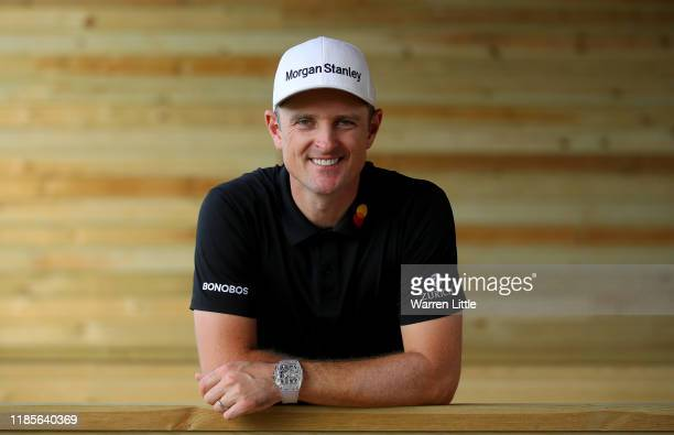 Justin Rose of England poses for a portrait ahead of the Turkish Airlines Open at The Montgomerie Maxx Royal on November 05, 2019 in Antalya, Turkey.