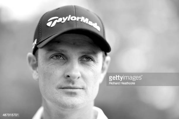 Justin Rose of England poses for a portrait during a practise round for the Wells Fargo Championship at the Quail Hollow Golf Club on April 29, 2014...