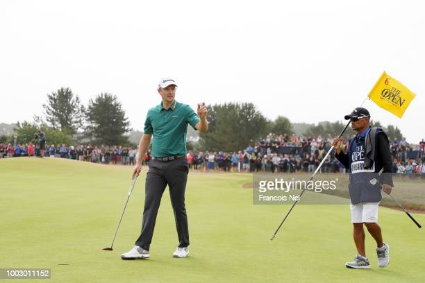 Phil Mickelson of the United States makes his way on to the first tee during round three of the Open Championship at Carnoustie Golf Club on July 21...