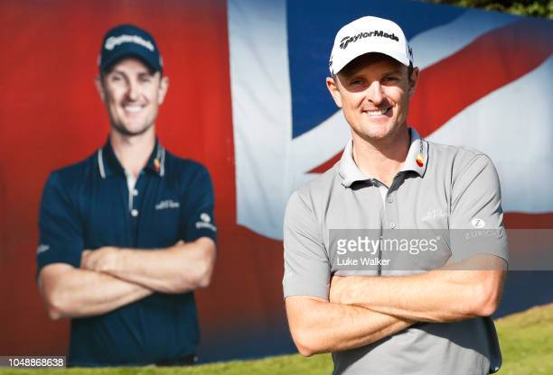 Justin Rose of England seen during the Hero Pro Am prior to the start of the British Masters supported by Sky Sports at Walton Heath Golf Club on...