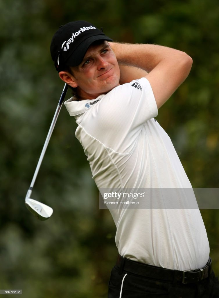 Justin Rose of England tee's off at the 17th during the second round of the Omega Mission Hills World Cup at the Mission Hills Resort on 23 November 2007 in Shenzhen, China.