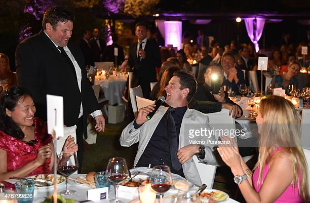 Justin Rose sings during the Gala Dinner following The Costa Smeralda Invitational Golf Tournament at Pevero Golf Club Costa Smeralda on June 27 2015...