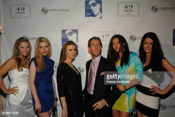 Justin Ross Lee Aska Barbu and Christina Kraft attend Justin Ross Lee's Birthday Party at 49 Grove on April 9 2010 in New York City