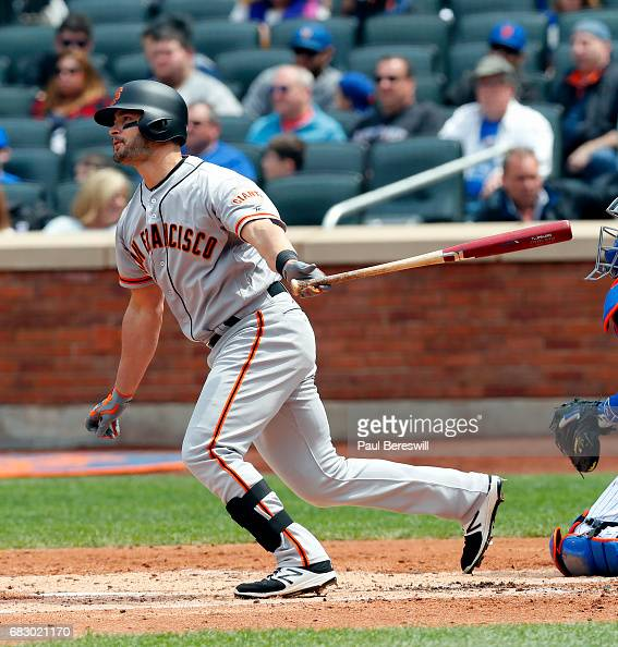 Justin Ruggiano Of The San Francisco Giants Hits A Single