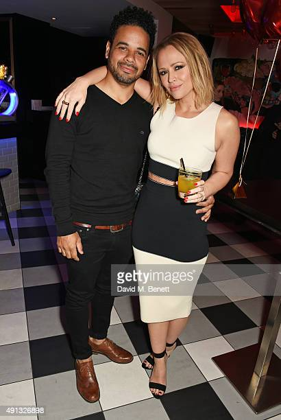 Justin Scott and Kimberley Walsh attend Nicola Roberts 30th birthday party at Hotel Chantelle London organised by Love Entertainment and sponsored by...