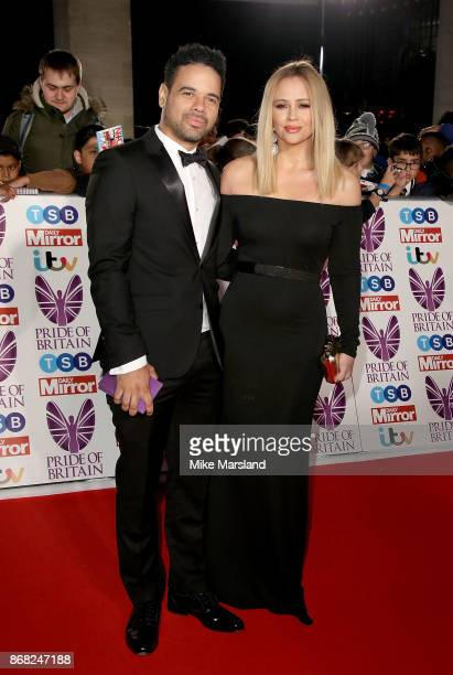 Justin Scott and Kimberley Walsh attend the Pride Of Britain Awards at Grosvenor House on October 30 2017 in London England
