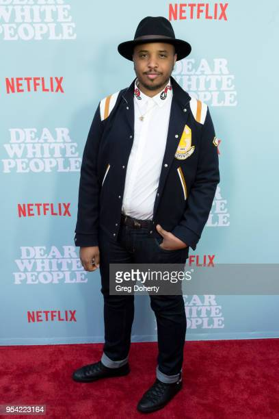 """Justin Simien attends the """"Dear White People"""" Season 2 Special Screening on May 2, 2018 in Hollywood, California."""