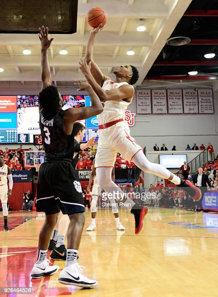 Justin Simon of the St John's Red Storm in action against the Butler Bulldogs during an NCAA basketball game at Carnesecca Arena on February 28 2018...