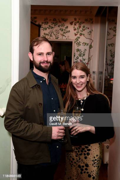 Justin Solomons and Charlotte Klamer attend the book signing cocktail party celebrating Brazilian designer, Sig Bergamin, hosted by De Gournay and...