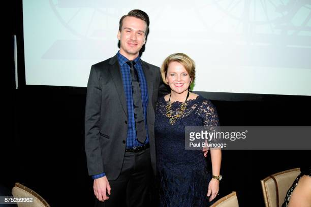 Justin Stafford and Jill Soltau attend the American Folk Art Museum Annual Gala at JW Marriott Essex House on November 16 2017 in New York City