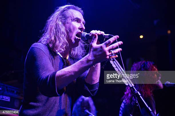 Justin Sullivan and Ceri Monger of New Model Army perform at the Jazz Cafe on May 30, 2015 in London, United Kingdom