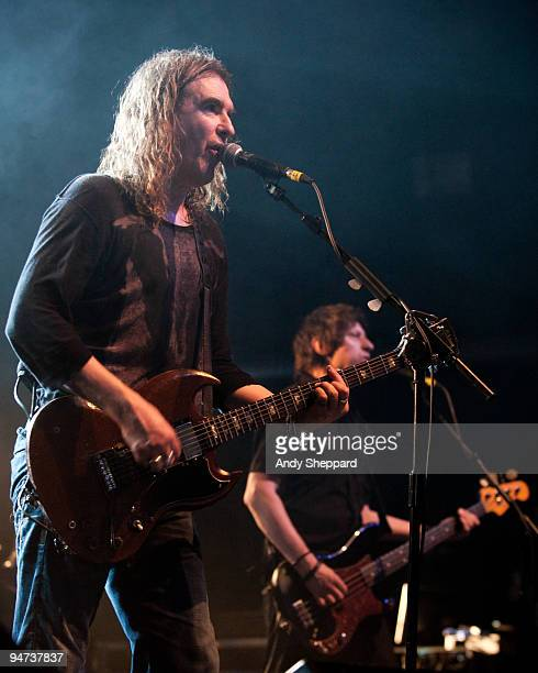 Justin Sullivan and Nelson of New Model Army perform on stage at The Forum on December 17 2009 in London England