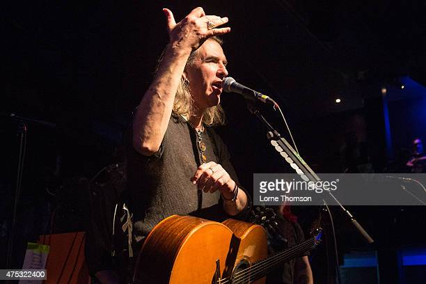 Justin Sullivan of New Model Army performs at the Jazz Cafe on May 30 2015 in London United Kingdom