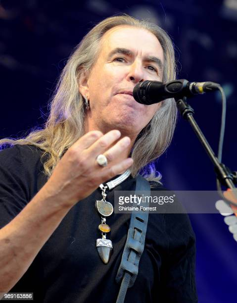 Justin Sullivan of New Model Army performs during Sounds Of The City at Castlefield Bowl on July 1 2018 in Manchester England