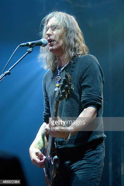 Justin Sullivan of New Model Army performs on stage at Wacken Open Air festival on July 29, 2015 in Wacken, Germany.