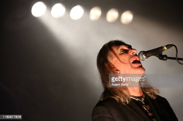 Justin Sullivan singer of New Model Army performs during a concert at Huxleys Neue Welt on October 12 2019 in Berlin Germany