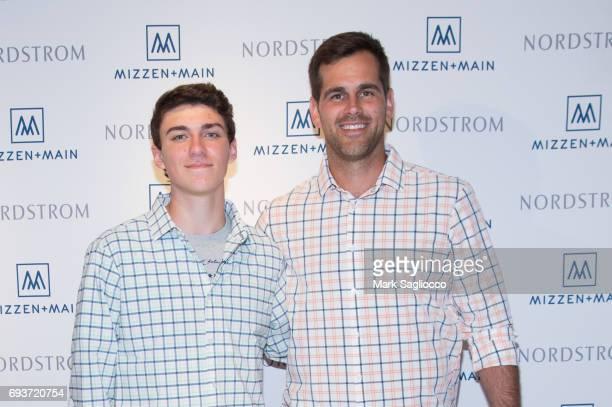Justin Surowiet and New England Patriot's Football Player Stephen Gostkowski attend MizzenMain at Nordstrom Westfarms on June 7 2017 in Farmington...