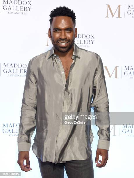 Justin Sylvester attends the VIP Opening of Maddox Gallery Exhibition Best Of British at Maddox Gallery on October 11 2018 in Los Angeles California