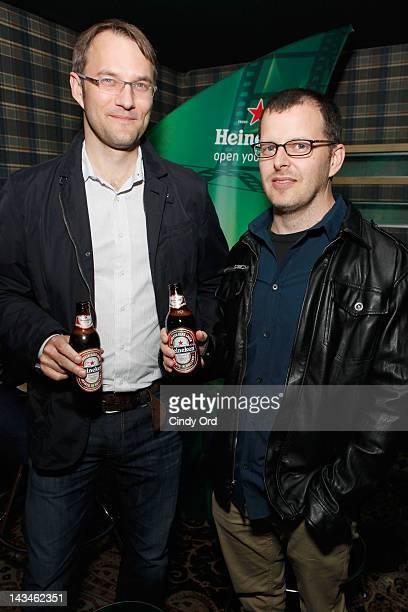 Justin Szlasa and Chris Kenneally attend Heineken Presents Side by Side Fan QA on April 26 2012 in New York City