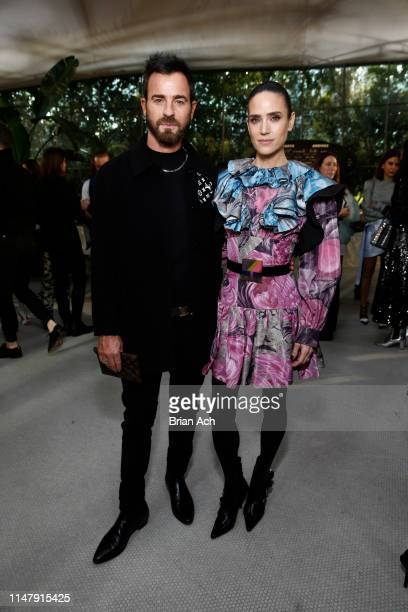 Justin Theroux and ennifer Connelly attend the Louis Vuitton Cruise 2020 Fashion Show at JFK Airport on May 08, 2019 in New York City.