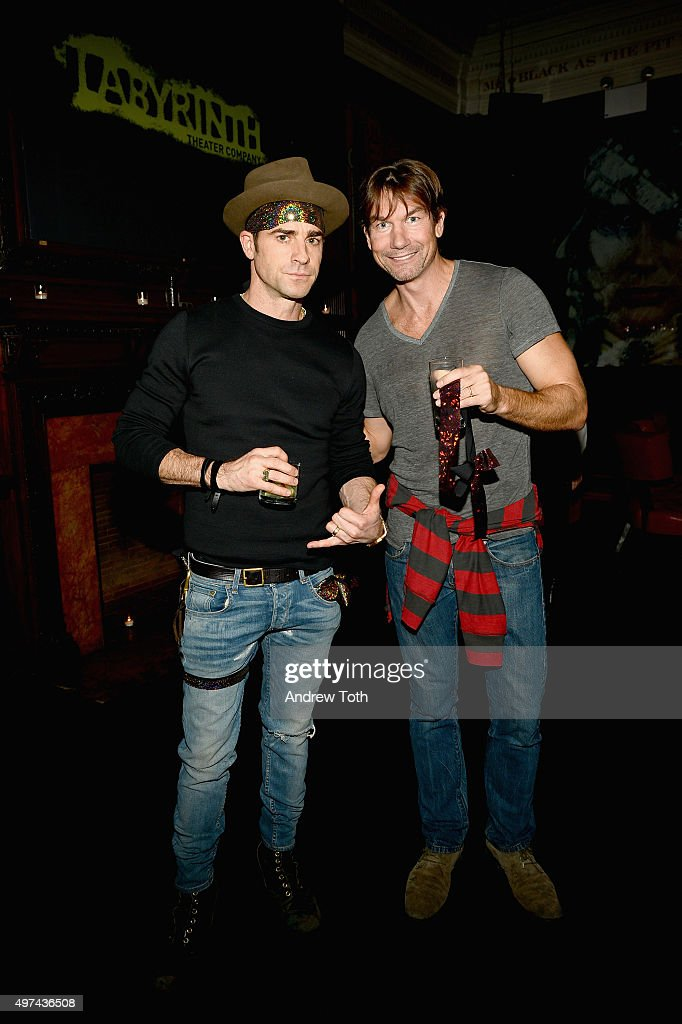Justin Theroux and Jerry O'Connell attend the Labyrinth Theater Company's Celebrity Charades Gala 2015 on November 16, 2015 in New York City.