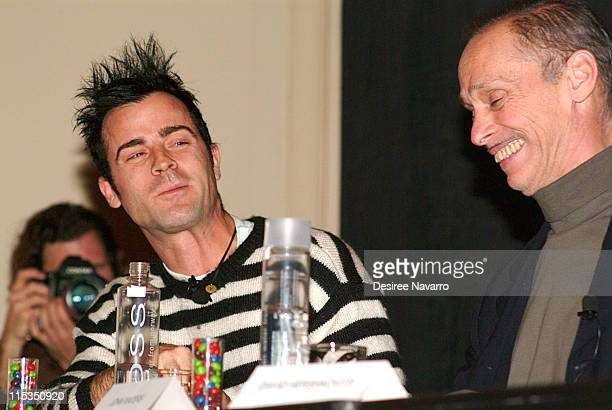 Justin Theroux and John Waters during W Hotel Hosts 'Adventures in Wonderland' Film Discussion Panel at W Hotel Union Square in New York City New...