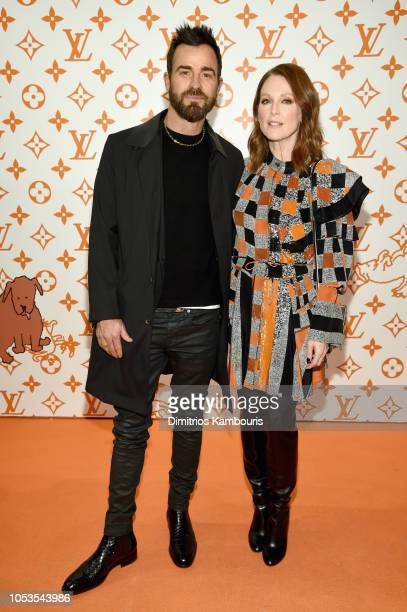 Justin Theroux and Julianne Moore attend the Louis Vuitton X Grace Coddington Event on October 25 2018 in New York City