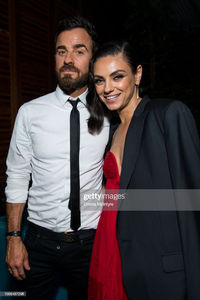 Justin Theroux (L) and Mila Kunis attend the after party for the premiere of Lionsgate's 'The Spy Who Dumped Me' on July 25, 2018 in Los Angeles, California.