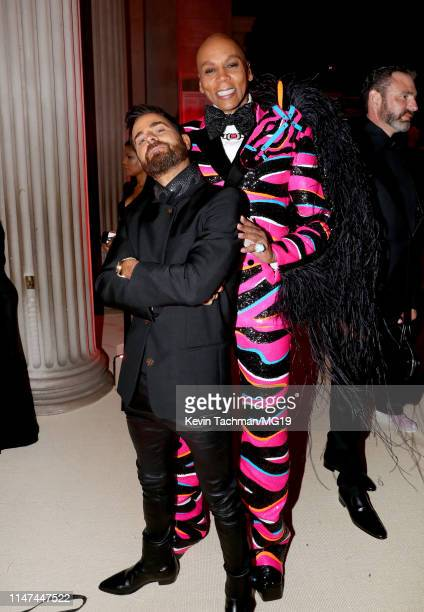 Justin Theroux and RuPaul attend The 2019 Met Gala Celebrating Camp Notes on Fashion at Metropolitan Museum of Art on May 06 2019 in New York City