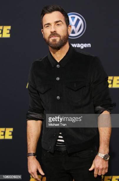 """Justin Theroux arrives to the Los Angeles premiere of Paramount Pictures' """"Bumblebee"""" held at TCL Chinese Theatre on December 09, 2018 in Hollywood,..."""