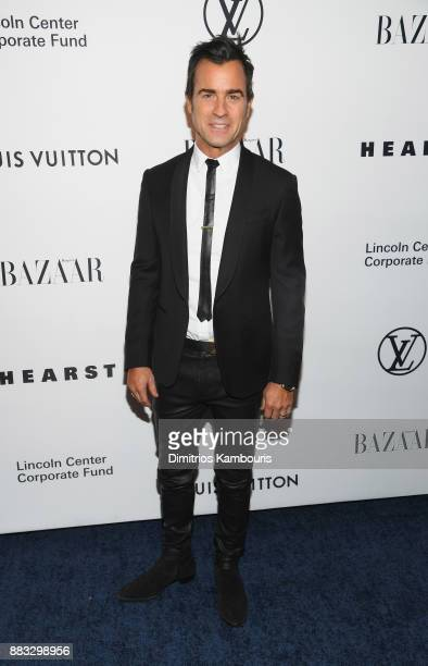 Justin Theroux attends An Evening Honoring Louis Vuitton and Nicolas Ghesquiere at Alice Tully Hall at Lincoln Center on November 30 2017 in New York...