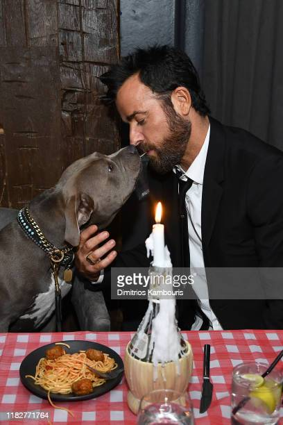 Justin Theroux attends as Cinema Society hosts a special screening of Disney's Lady And The Tramp at iPic Theater on October 22 2019 in New York City