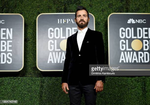Justin Theroux attends the 78th Annual Golden Globe® Awards at The Rainbow Room on February 28, 2021 in New York City.