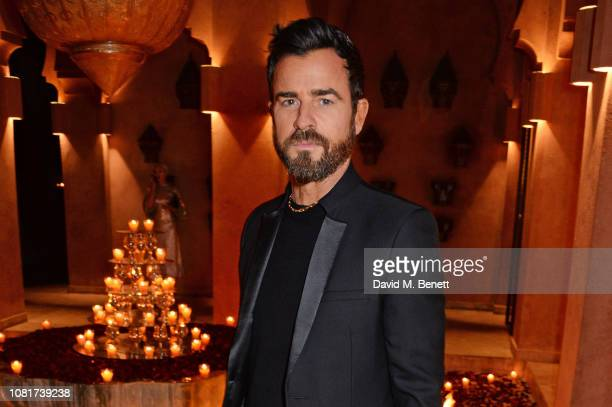Justin Theroux attends the ABB FIA Formula E Championship Dinner following the 2019 Marrakesh EPrix at the Amanjena Resort on January 12 2019 in...